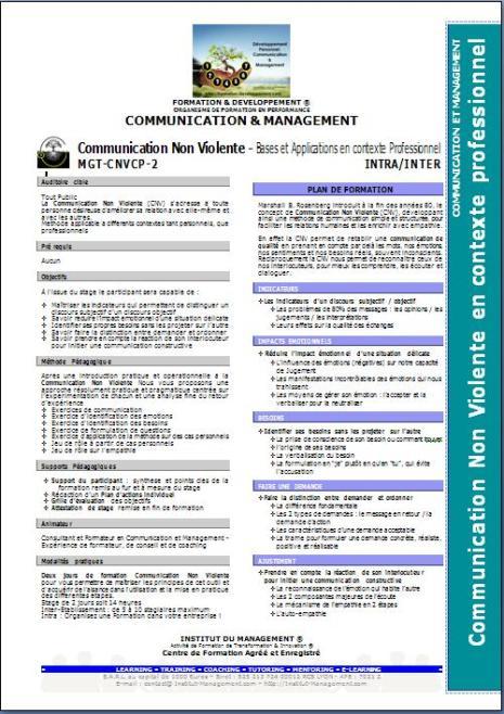 C&M1-2 - MGT-CNVCP-2 - Bases de la Communication Non Violente en Contexte Pro