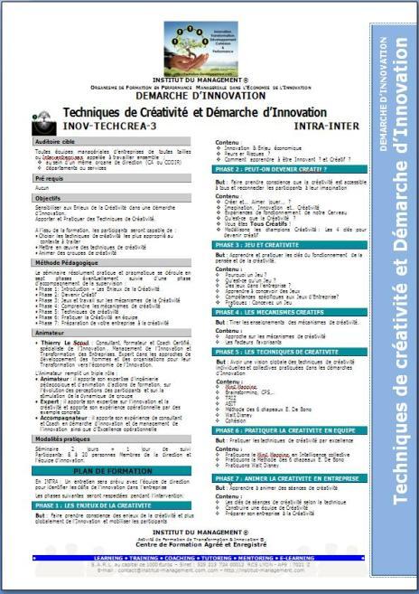 I&P1-1 - INOV-TECHCREA-3 - Techniques de Créativité et Démarche d'Innovation